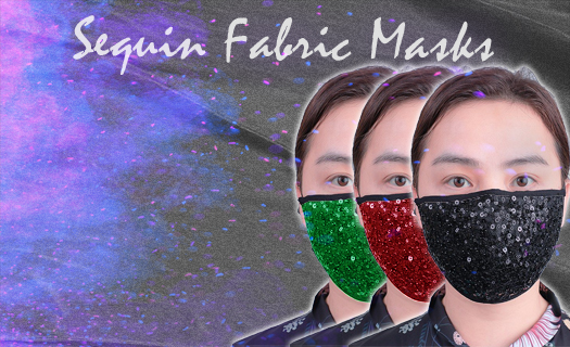 Sequins Fabric Masks