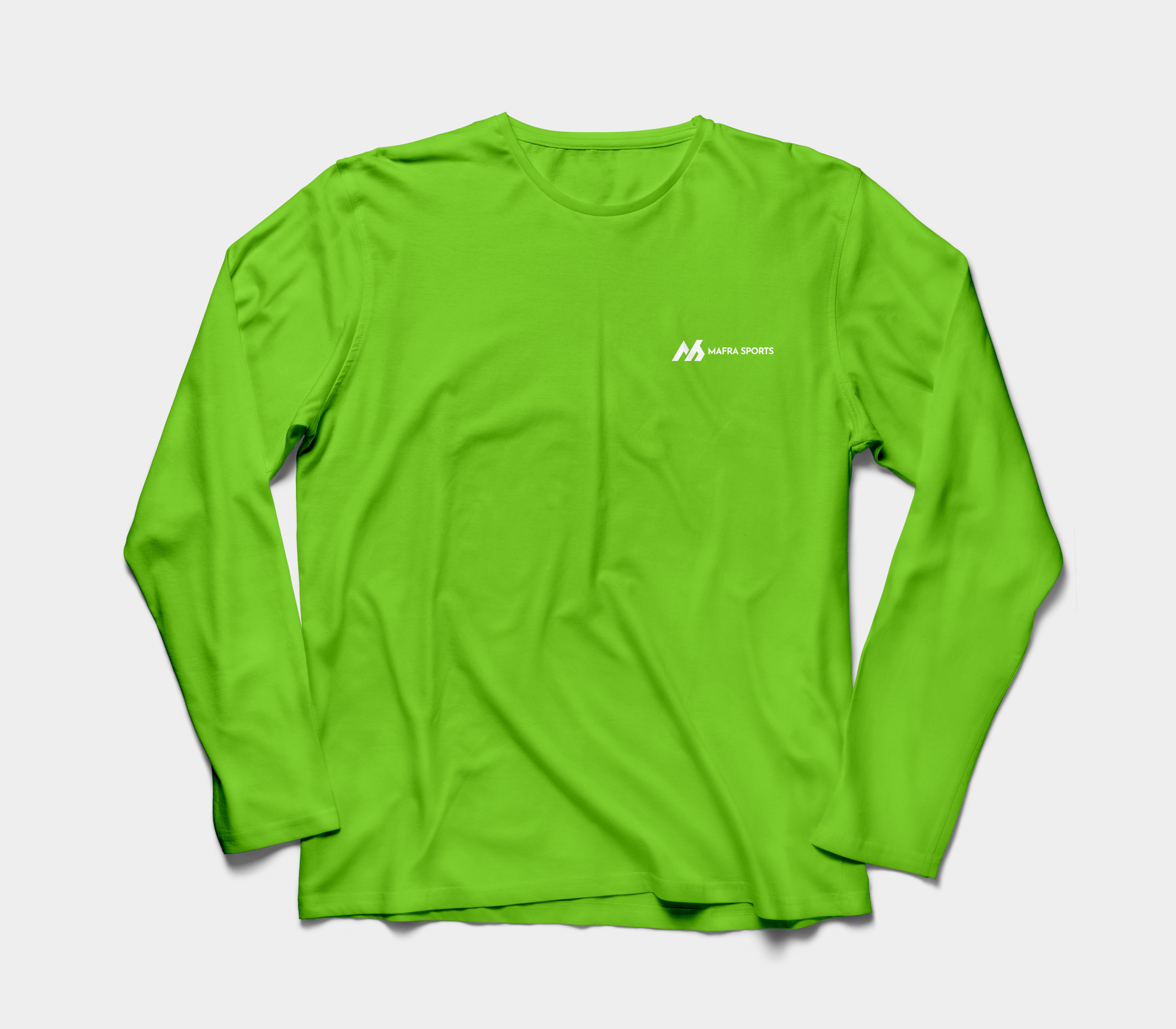 Solid Color Dyed Long Sleeve Crew Neck