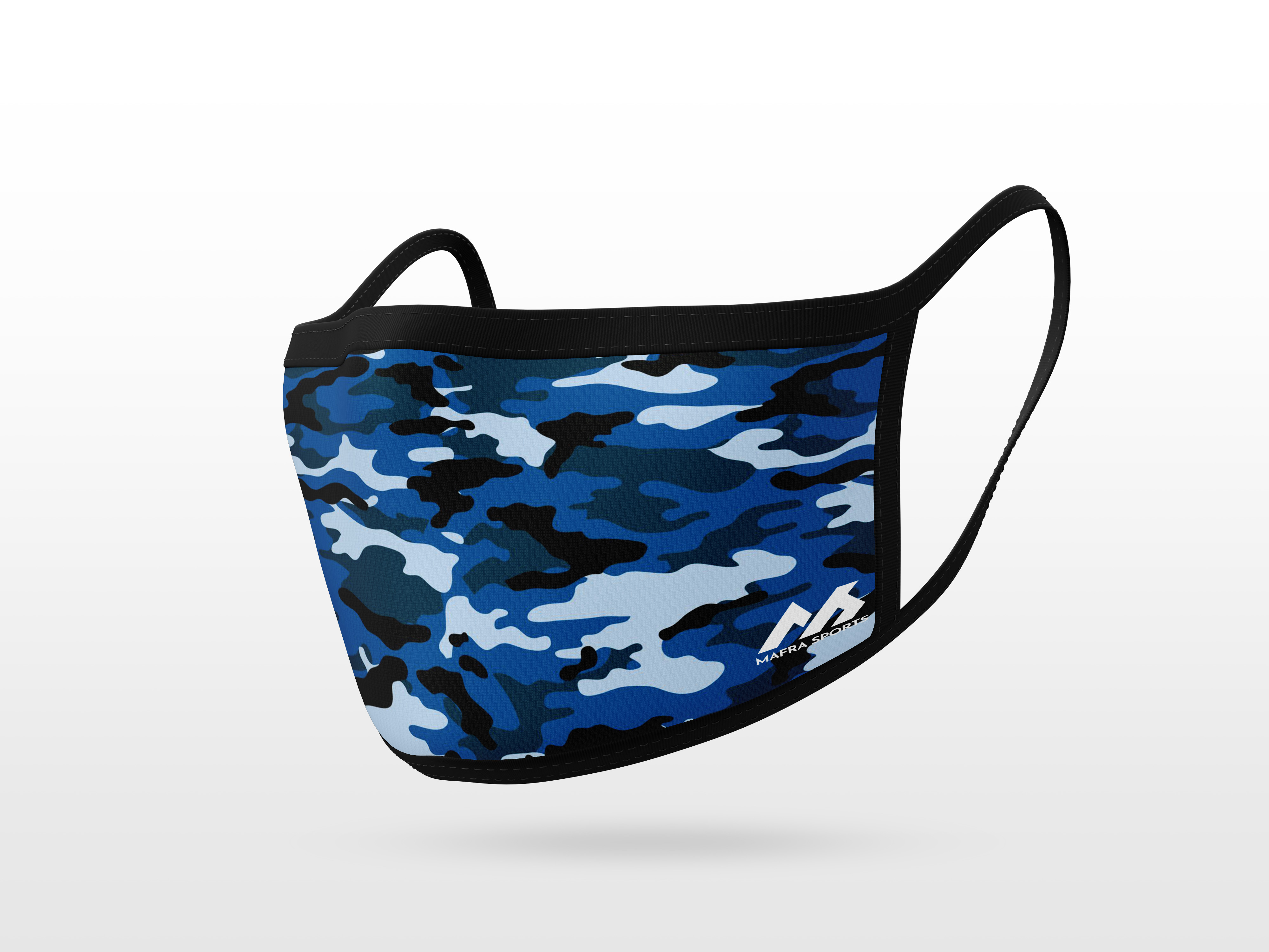 Blue Camouflage Pattern Mask
