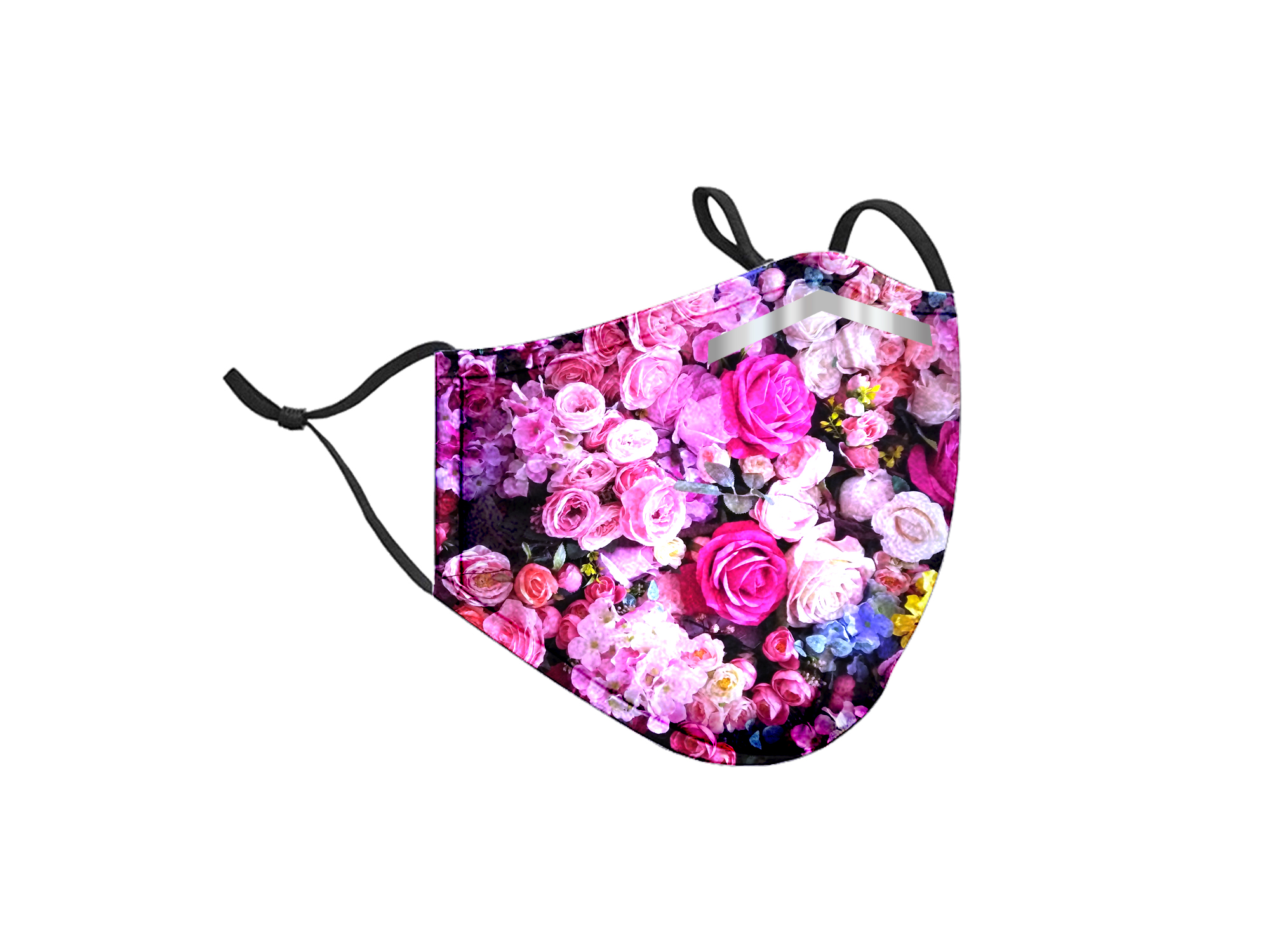 Floral Style Adjustable Mask with PM2.5 Filters