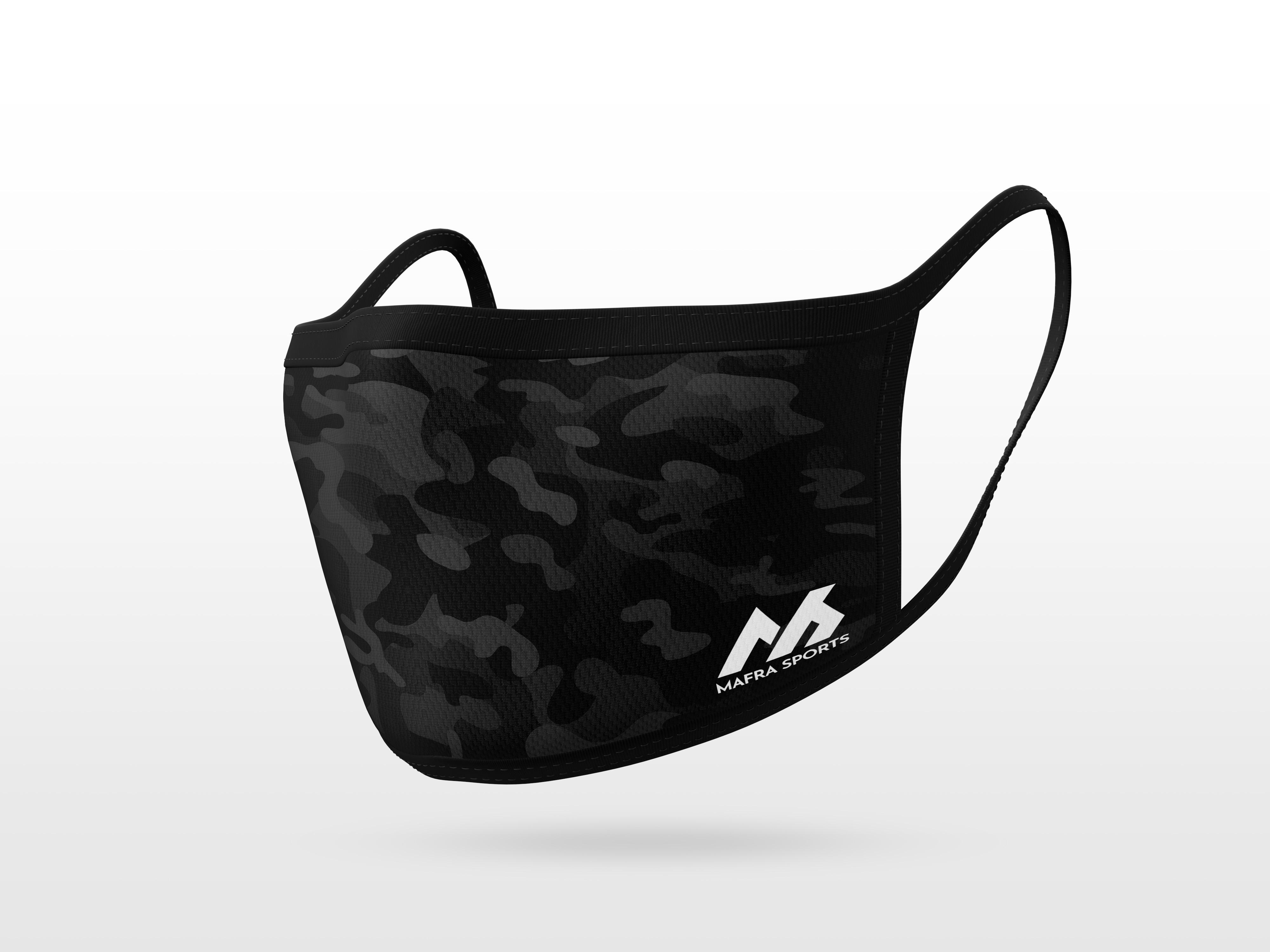 Black Camouflage Pattern Mask